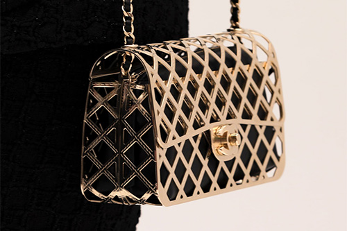 Chanel Gold Classic Bag With Pouch thumb